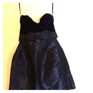 Size 6 Black Tie Oleg Cassini strapless dress.